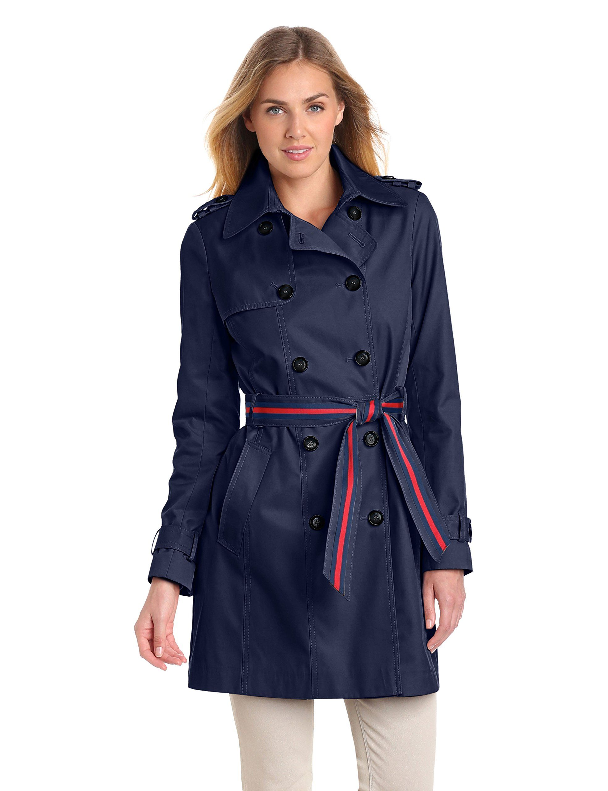 Tommy Hilfiger Women's Double Breasted Trench Coat with