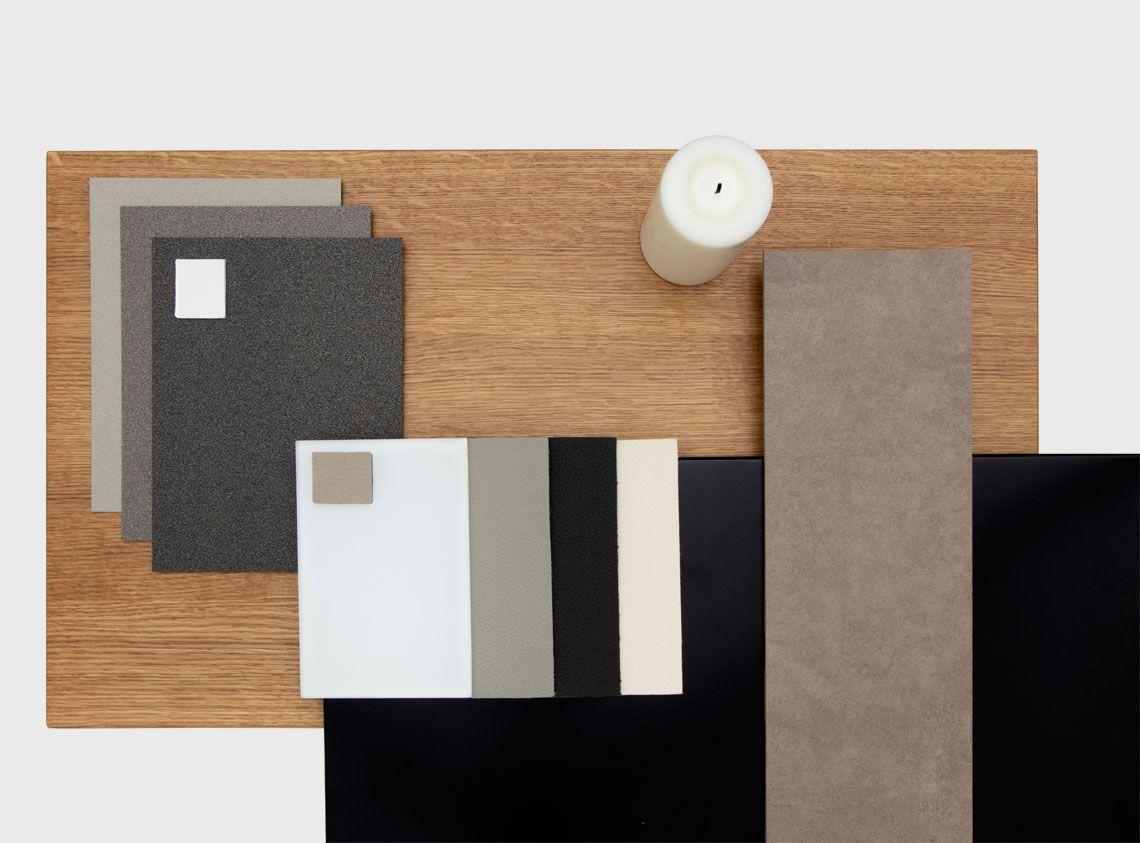 Holz Und Farbe Eiche Und Grautone Moodboard Interiordesign Design Oak Eiche Eiche Farben Holz
