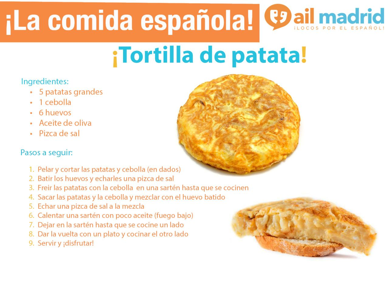 AIL Madrid Photo Spanish food, Mexican food recipes