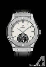 Hublot Classic Fusion Tourbillon 45mm Automatic in Titanium - On Black Crocodile Strap with White Op