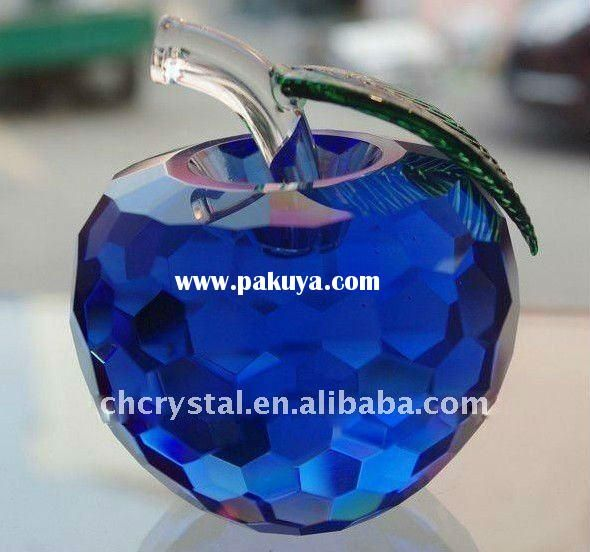 Blue Apple Shaped Crystal Craft Recipes Apples In 2019