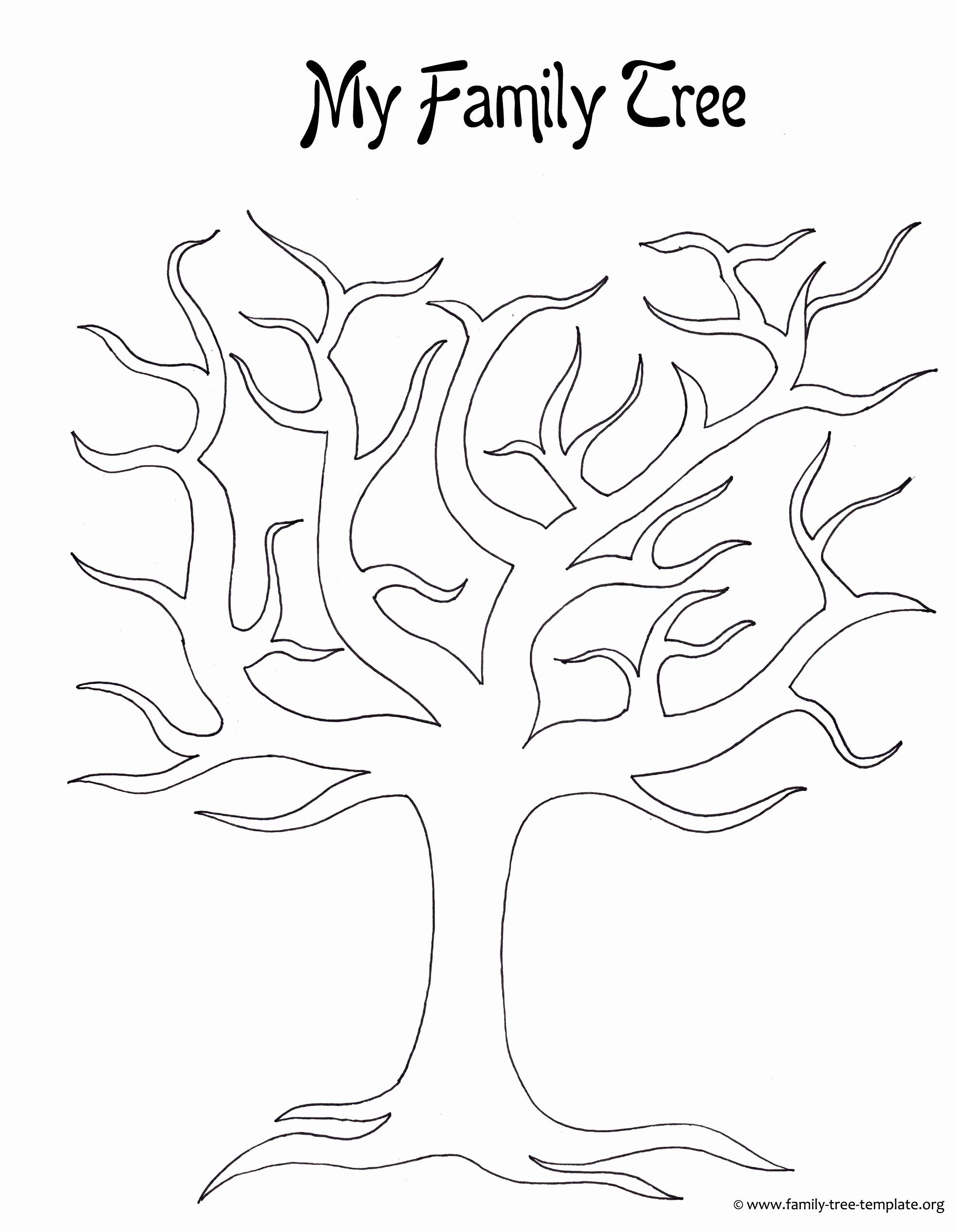 Family History Coloring Book Awesome Family Tree Template With Siblings Aunts Uncles Cousins Uk Family Tree Printable Family Tree Template Blank Family Tree