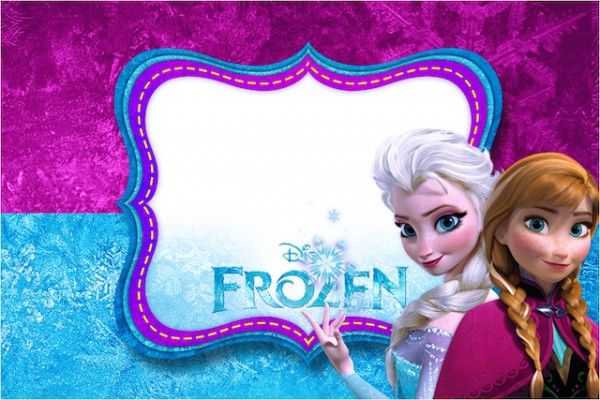 Kit Digital Completo Frozen Roxo E Azul Convites Frozen Convite