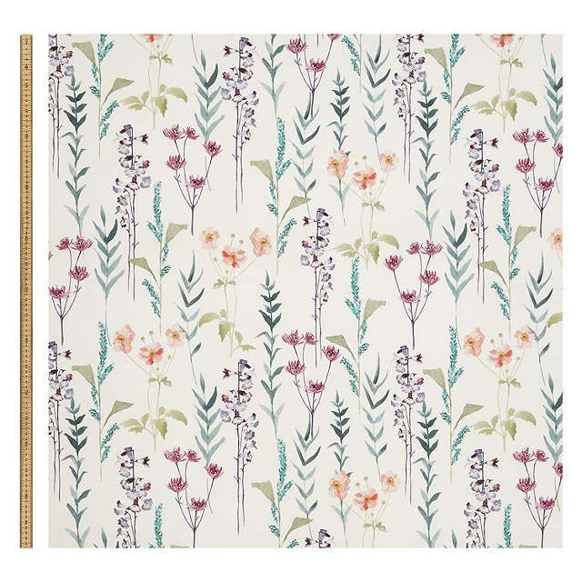 John Lewis Amp Partners Longstock Furnishing Fabric Green