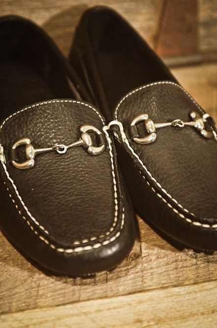 """Bison Leather Horse Bit Diving Moccasins - $184.95 - Use the deal """"georgia"""" to receive 10% off!"""