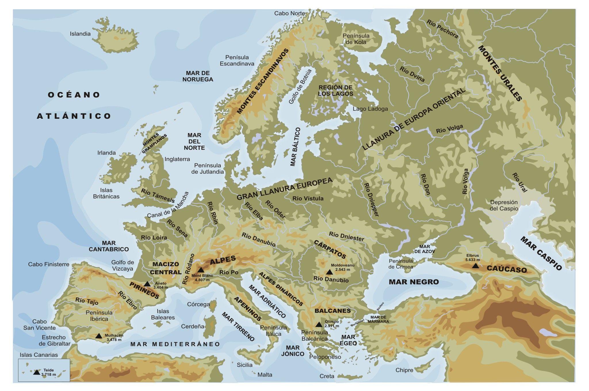 Mapa fsico de Europa httpcontenidoseducarexessama2010