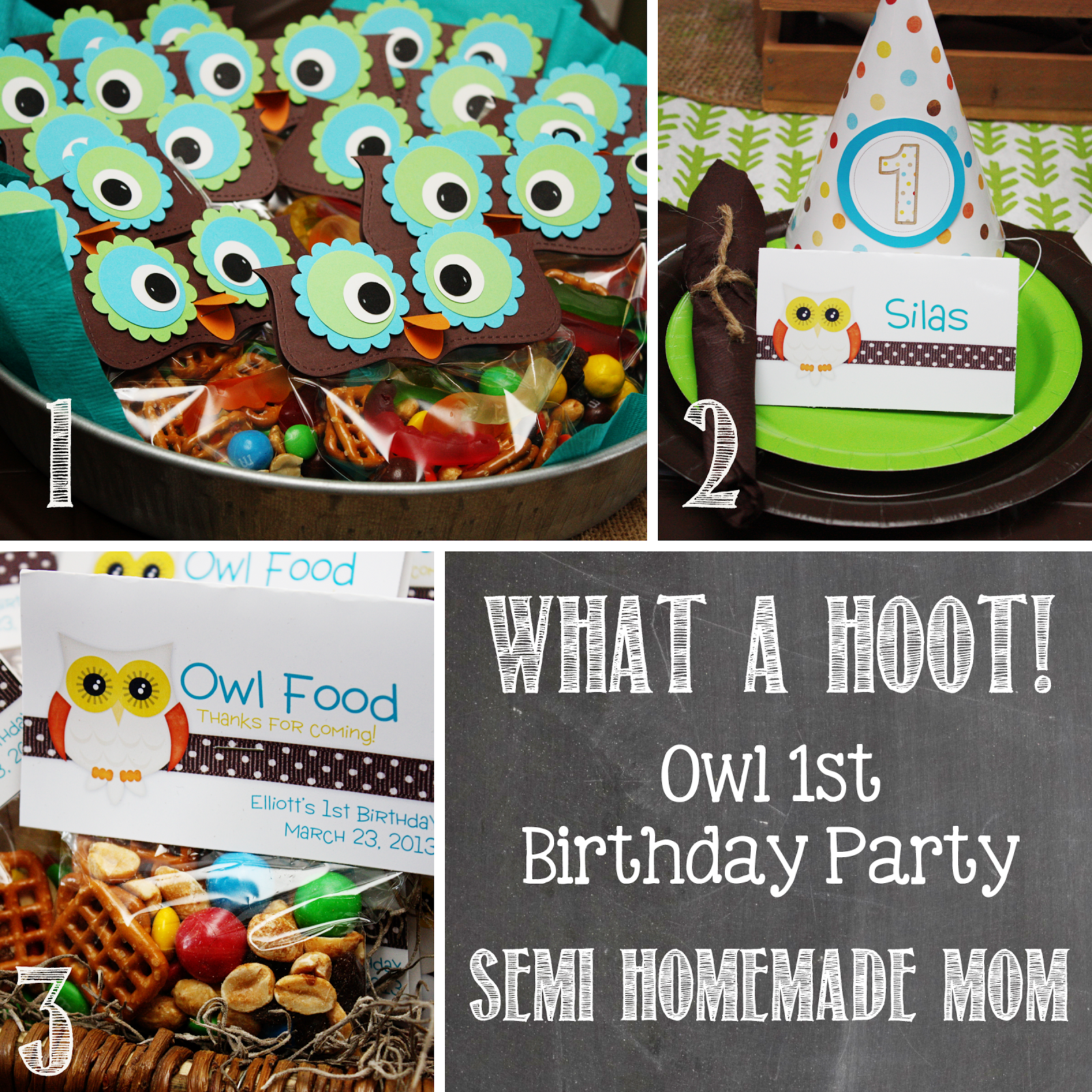 Semi Homemade Mom What a Hoot Owl 1st Birthday Party check out