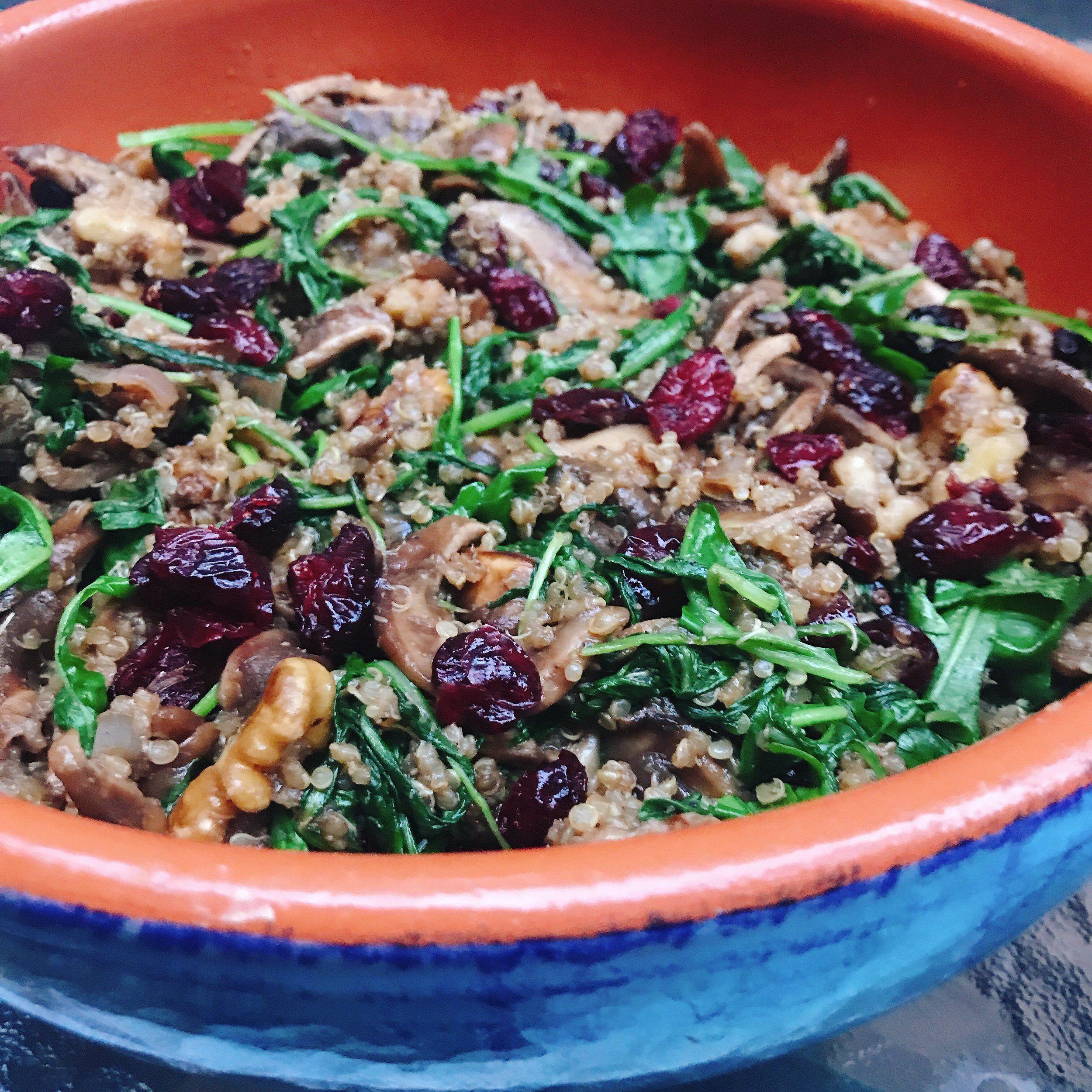 Wild Mushroom, Arugula & Quinoa Salad