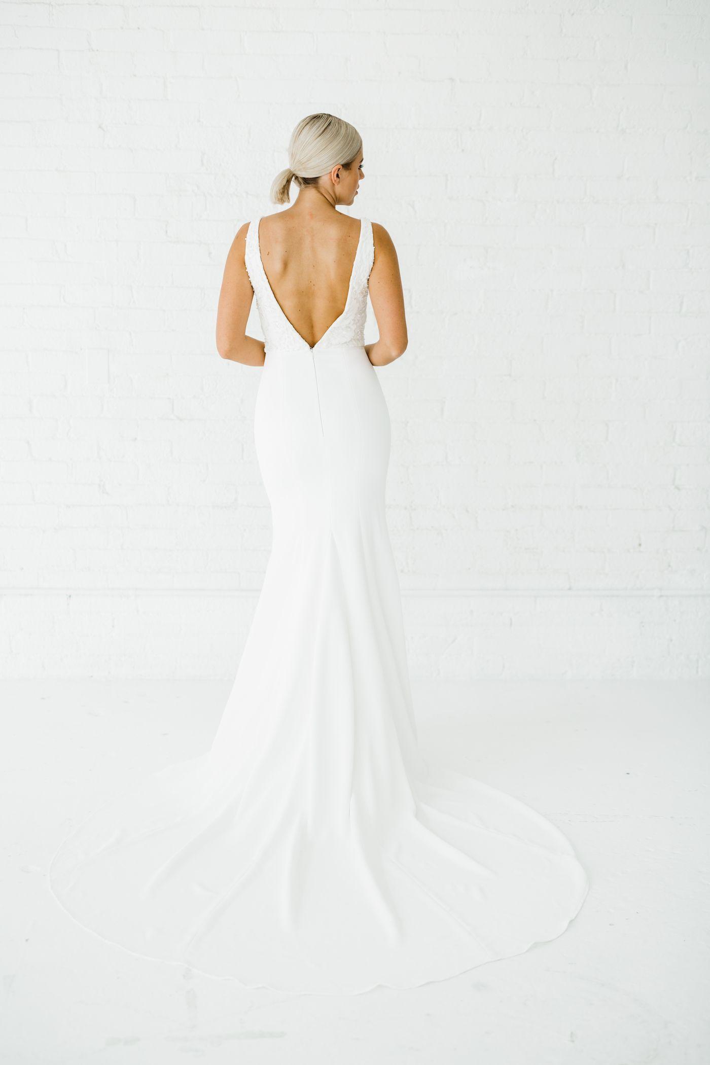 Madison Wedding Dress Train Fitted Wedding Dress Wedding Dresses