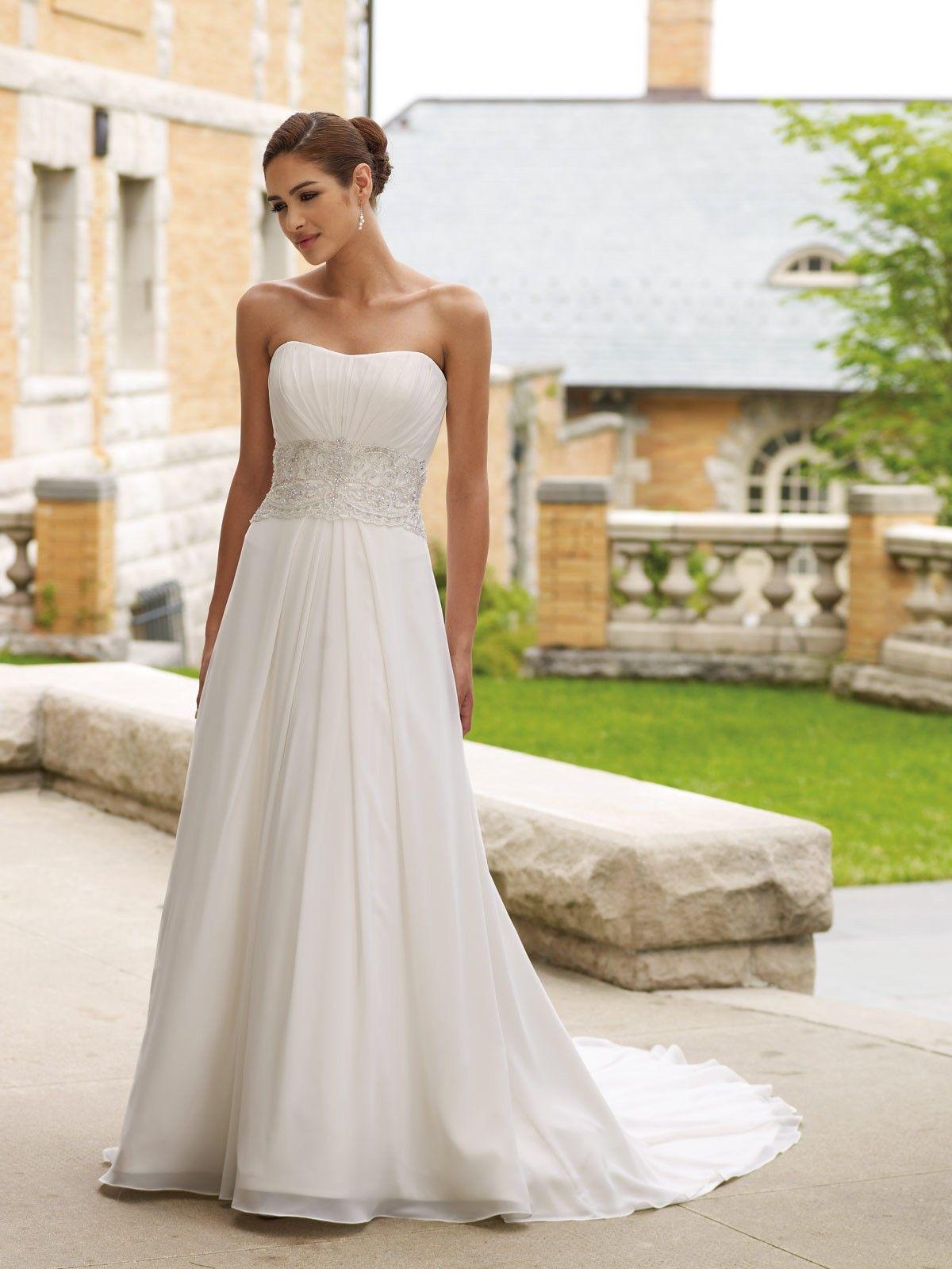 Informal Casual Cheap Tea Length Beach Wedding Dresses