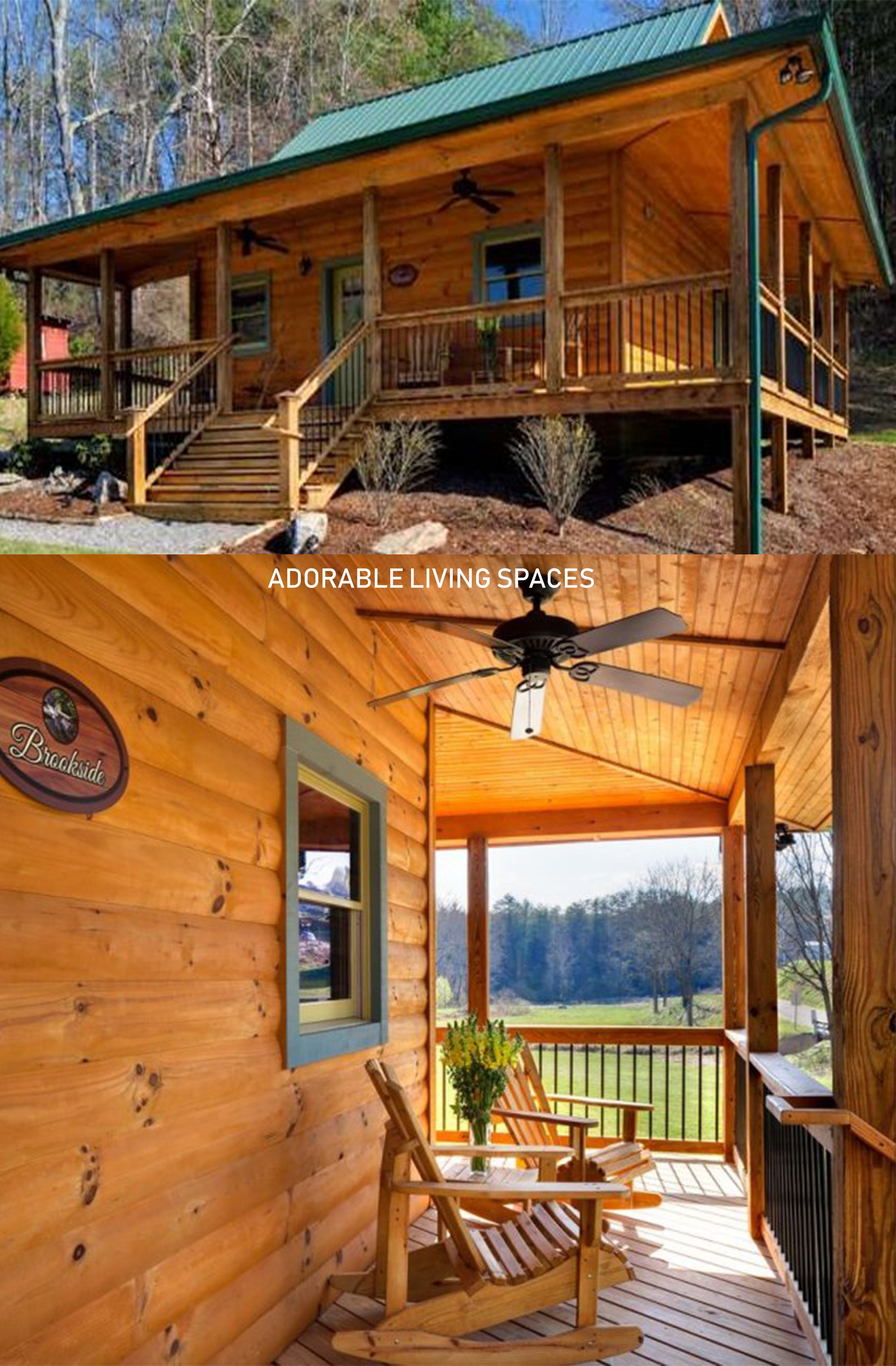 Cabin in the Woods With a Wonderful Wrap Around Porch   Cabin, Cabins in  the woods, Wrap around porch