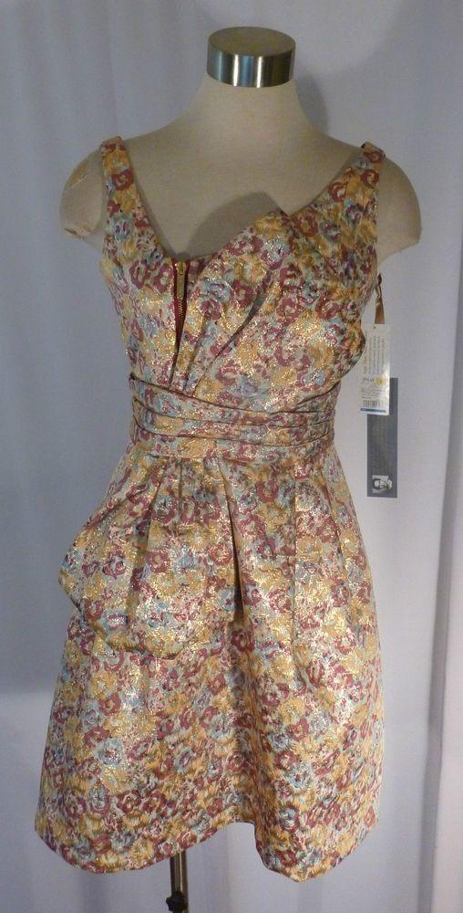 Zac Posen For Target Shimmering Floral Brocade Sold Out Formal Dress