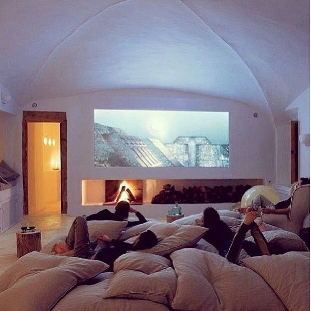 Movie Room Love The Idea Of Piling