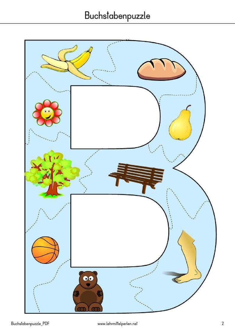 Arbeitsblätter Buchstaben Kindergarten : Buchstaben puzzle pdf to flipbook kinder pinterest