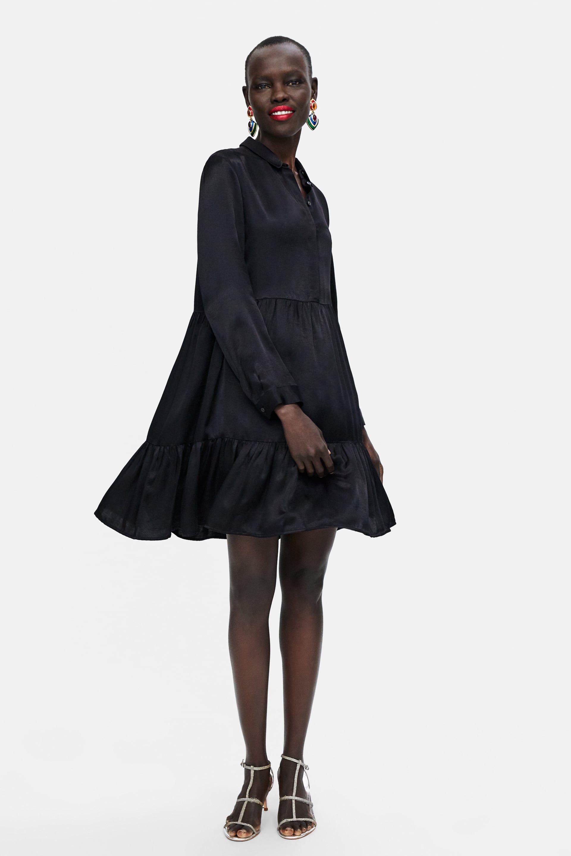 ZARA - WOMAN - DRESS ZW PREMIUM DAISY BLACK