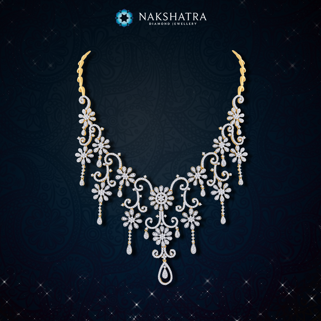 Spell grandeur with grace and elegance with this nakshatra diamond spell grandeur with grace and elegance with this nakshatra diamond necklace for your marvellous wedding aloadofball Images