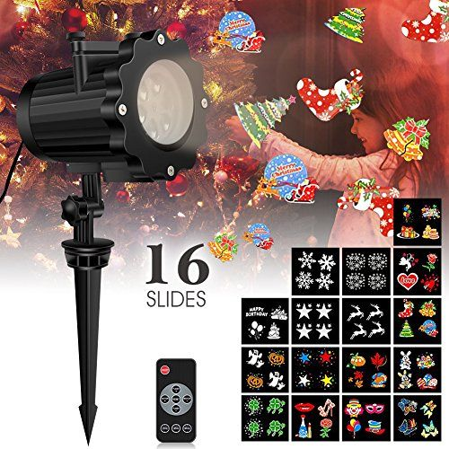 Review Led Christmas Light Projector with 16 Slides, Weihao Bright