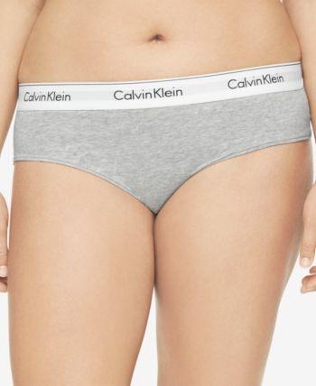 ff455b217 Calvin Klein Plus Size Modern Cotton Logo Hipster QF5118 - Black 1X ...