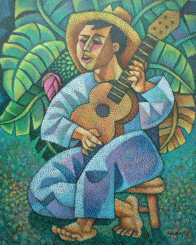 Guitarist by Ninoy Lumboy, a Filipino artist, who
