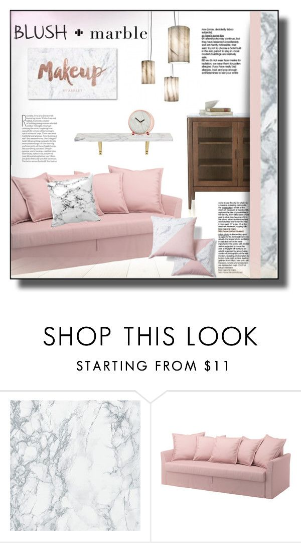 """Blush & Marble"" by rosie305 ❤ liked on Polyvore featuring interior, interiors, interior design, home, home decor, interior decorating, homedecor and blushmarble"
