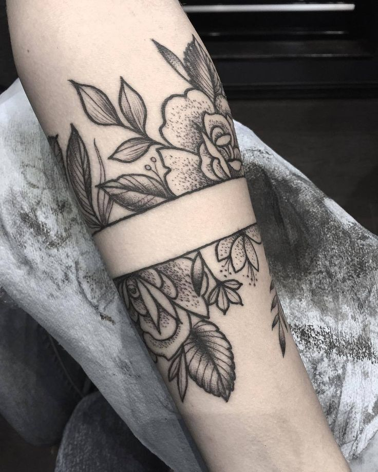 Flower Arm Band Tattoo Artist Olivia Hogan Tattooer Dog Mom Band Tattoo Designs Arm Band Tattoo Girl Arm Tattoos