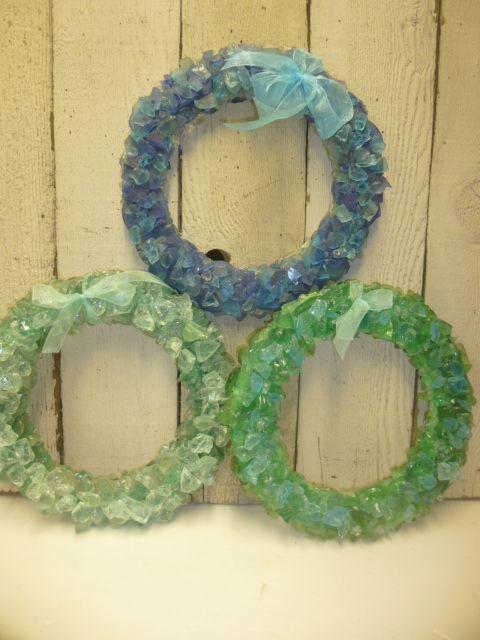 Beach glass wreaths!!