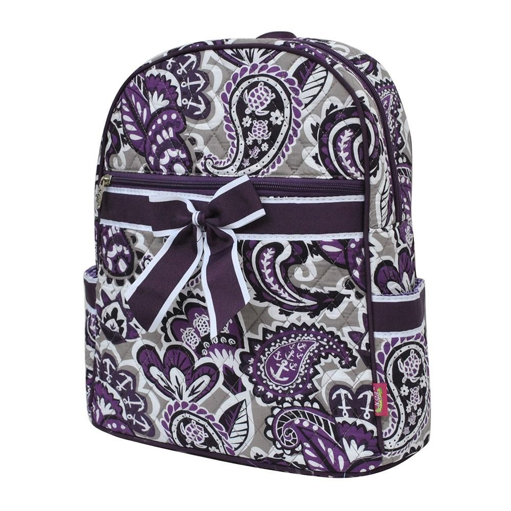 Ngil purple paisley park quilted backpackpur