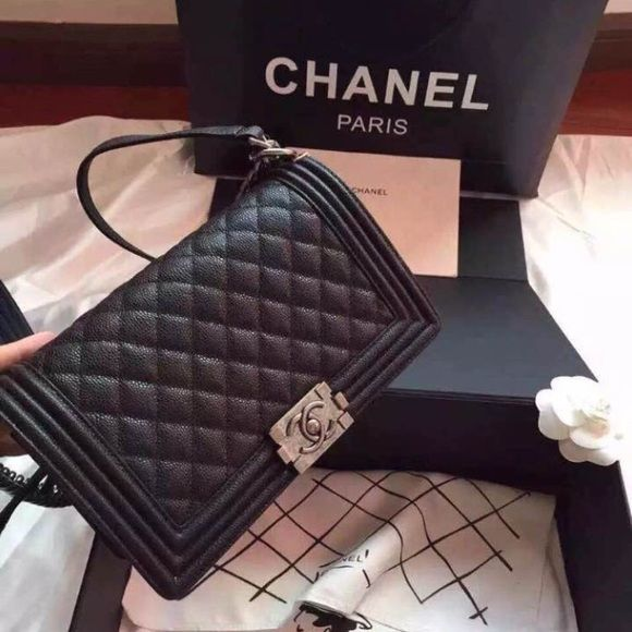 46fb4a700687 Chanel Le boy caviar COPY Copy.Great Quality. It comes with box, dust