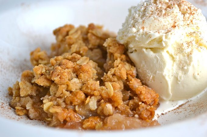 Happy Monday! Apple Crisp  Save Print Prep time 15 mins Cook time 60 mins Total time 1 hour 15 mins  Stuckonsweet.com: Stuck on Sweet Recipe type: Fall Dessert Serves: 6 Ingredients 2½ pounds medium Granny Smith and Honey Crisp apples (about 5 or 6), peeled, cored, and sliced ¼ inch thick 3 tablespoons …