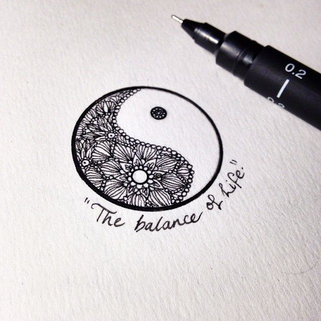 Si Tú Vida Es Un Descontrol Este Es Tu Tatuaje Yinyan Tattoos