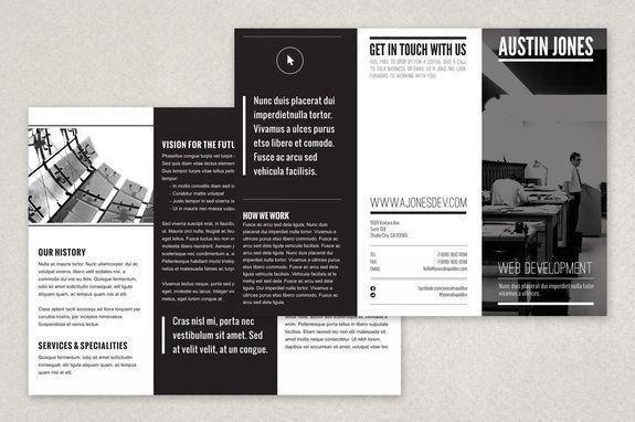 Modern Versatile Brochure Template - A minimalist modern black and ...