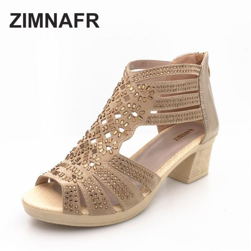 d4f93e1f8a3c summer female sandals leather fish mouth sandals cowhide diamond hollow  high heel women GLADIATOR SANDALS Price  58.80   FREE Shipping  girly   clothes