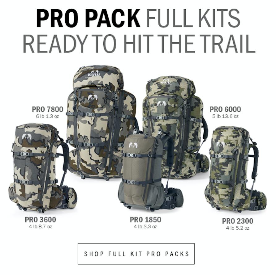 Kuiu S Pro Pack Full Kits Hunting Packs External Frame Backpack Packing