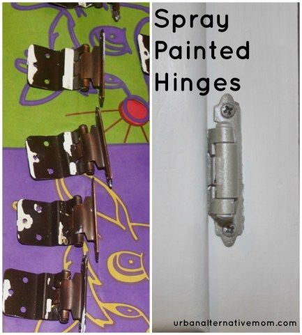 Spray Painted Hinges Cabinet Kitchen (With images)   Spray ...