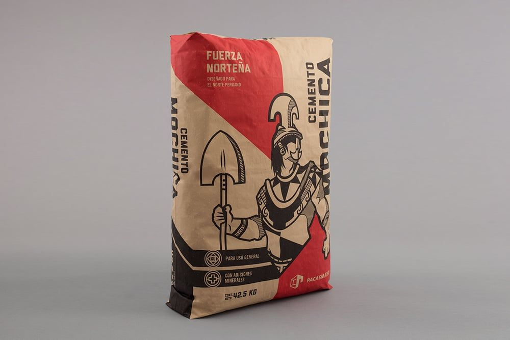 Cemento mochica creative packaging design packaging