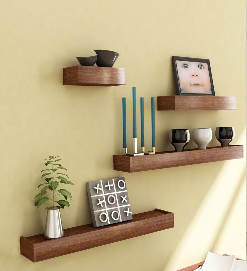 Mango Wood Set Of 4 Shelves Muebles De Entrada Decoracion De
