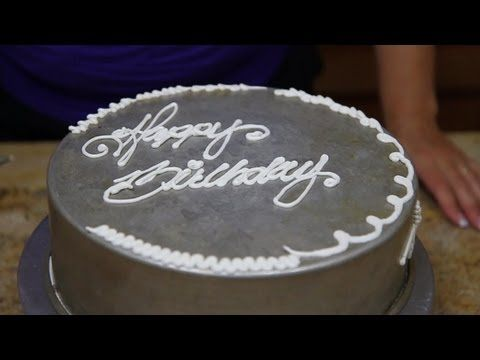 How To Use A Writing Tip With Buttercream Cake Decorating Youtube Cake Writing Buttercream Cake Decorating Cake
