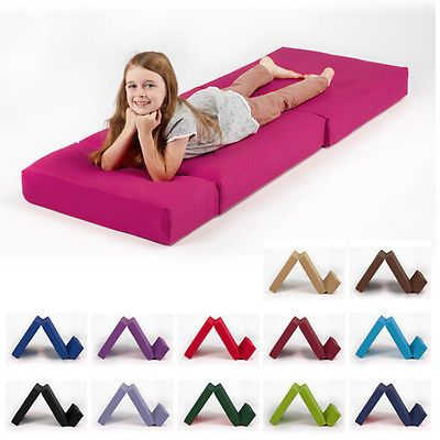 Single Fold Out Block Foam Z Bed Sofabed Guest Chair Bed Folding Mattress Futon Chair Bed Sleepover Beds Folding Mattress