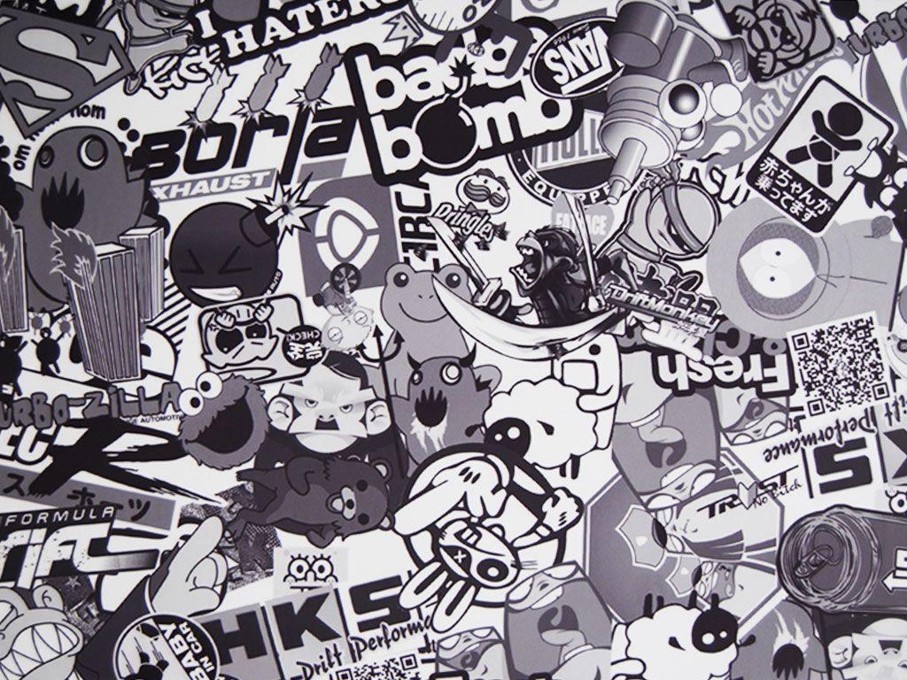 Rwraps gear head sticker bomb vinyl wrap car wrap film stickerbomb rwraps vinyl jdm