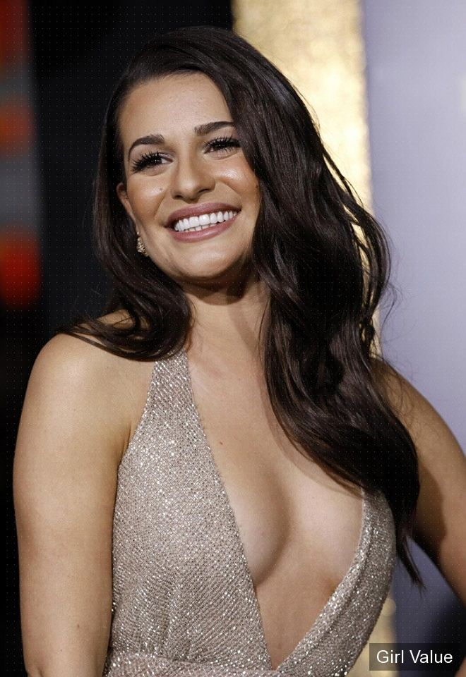 lea michele in white dress photos gallery