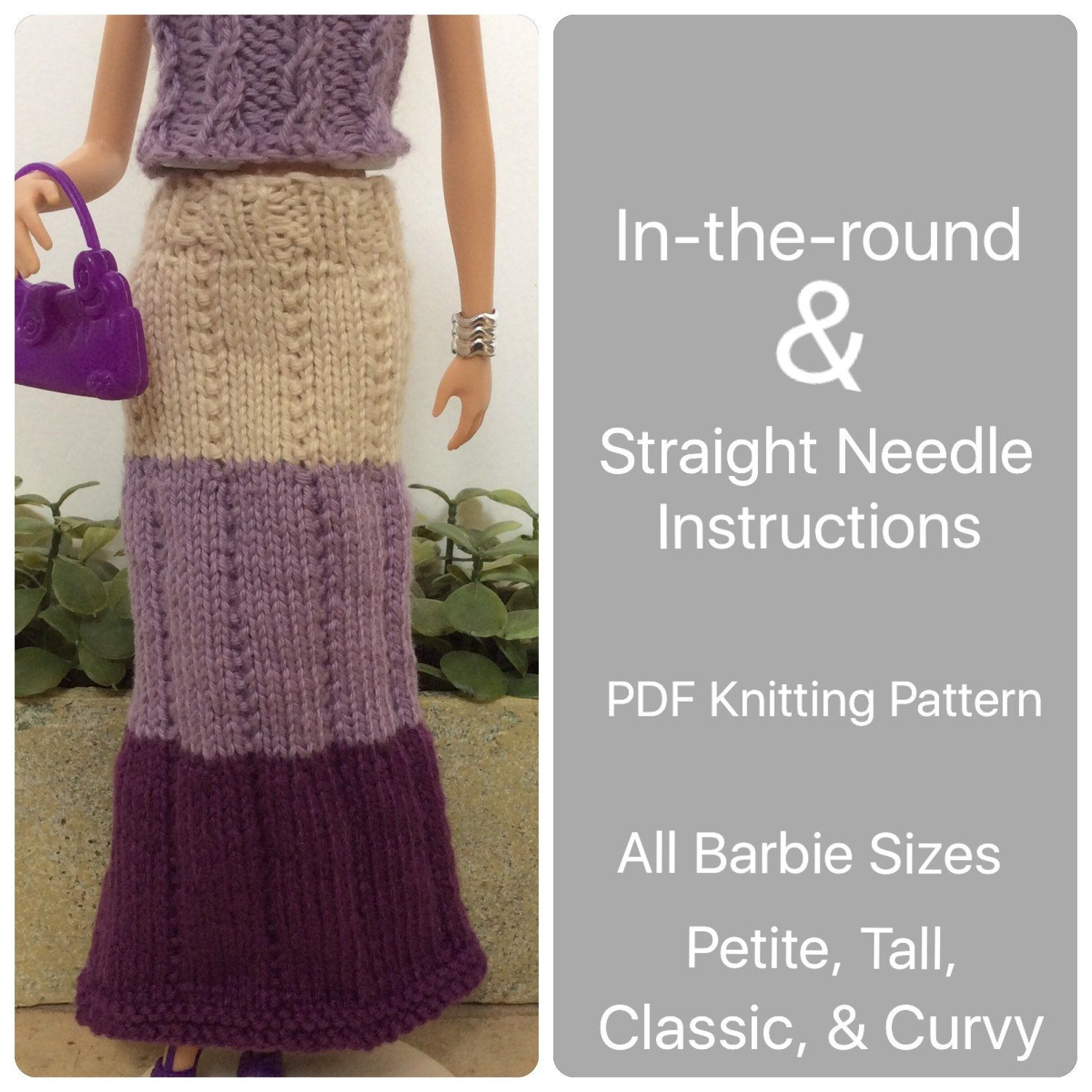 Pattern Barbie Knit Doll Clothes, Easy Knitting Pattern for Maxi ...