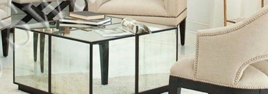 HORCHOW Mirrored Cube Mirror Glass Table Cocktail Coffee Square - Mirrored cube end table