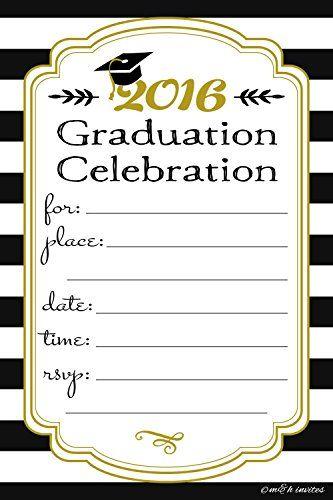 free printable graduation party invitations graduation pinterest
