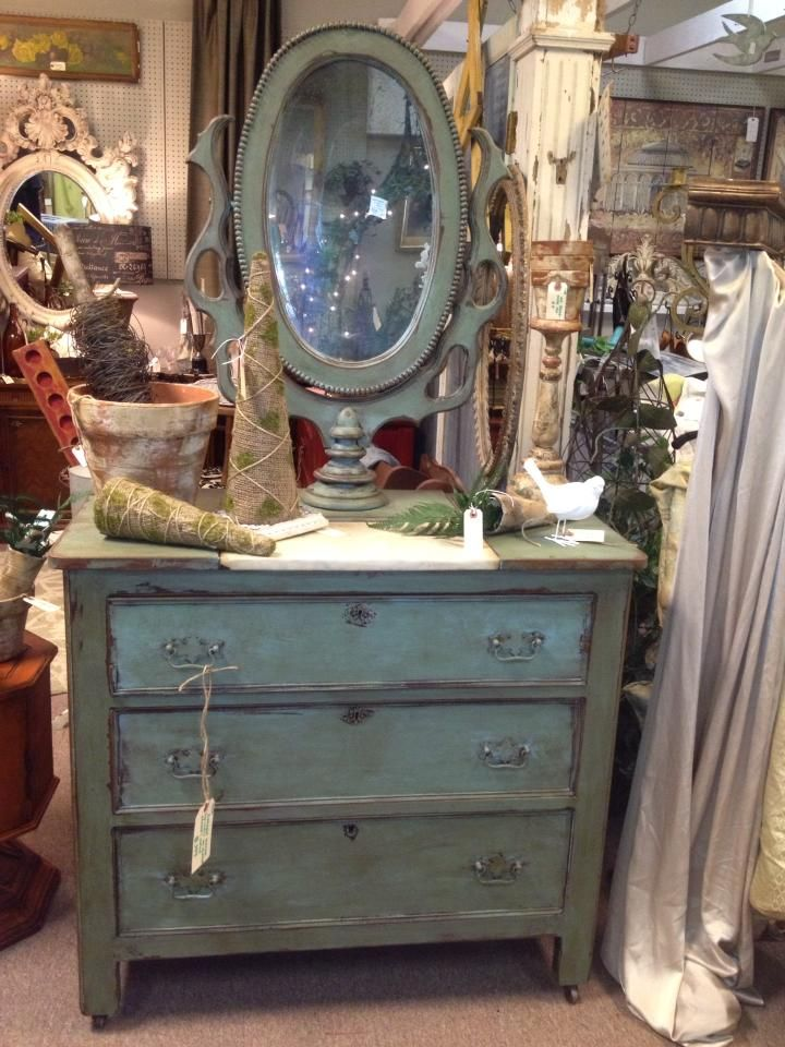 A Beautiful Dresser And Mirror Painted In Provence Chalk