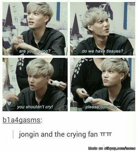 I Love His Heart So Much Please Send Him A Lot Of Love And Love Him Exo Funny Exo Memes Exo Jongin