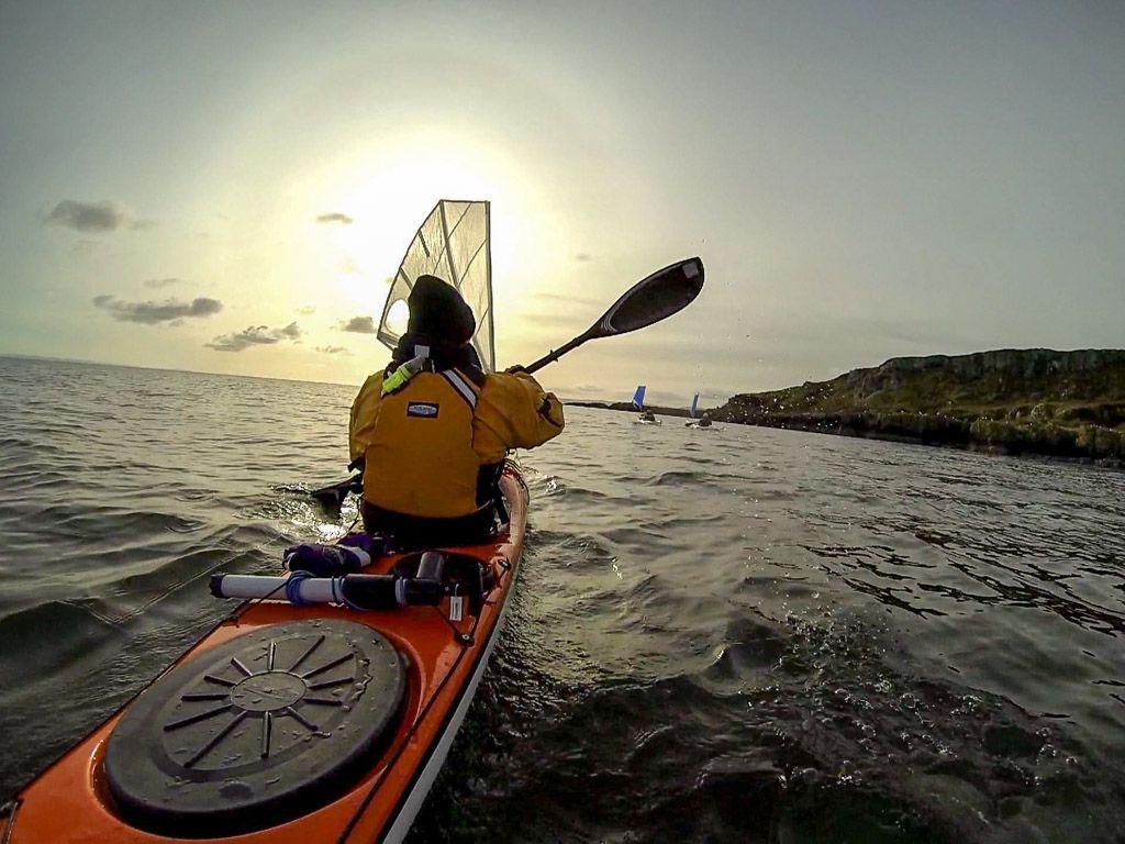 Sea kayaking with seakayakphoto.com: Sunglasses and pogies
