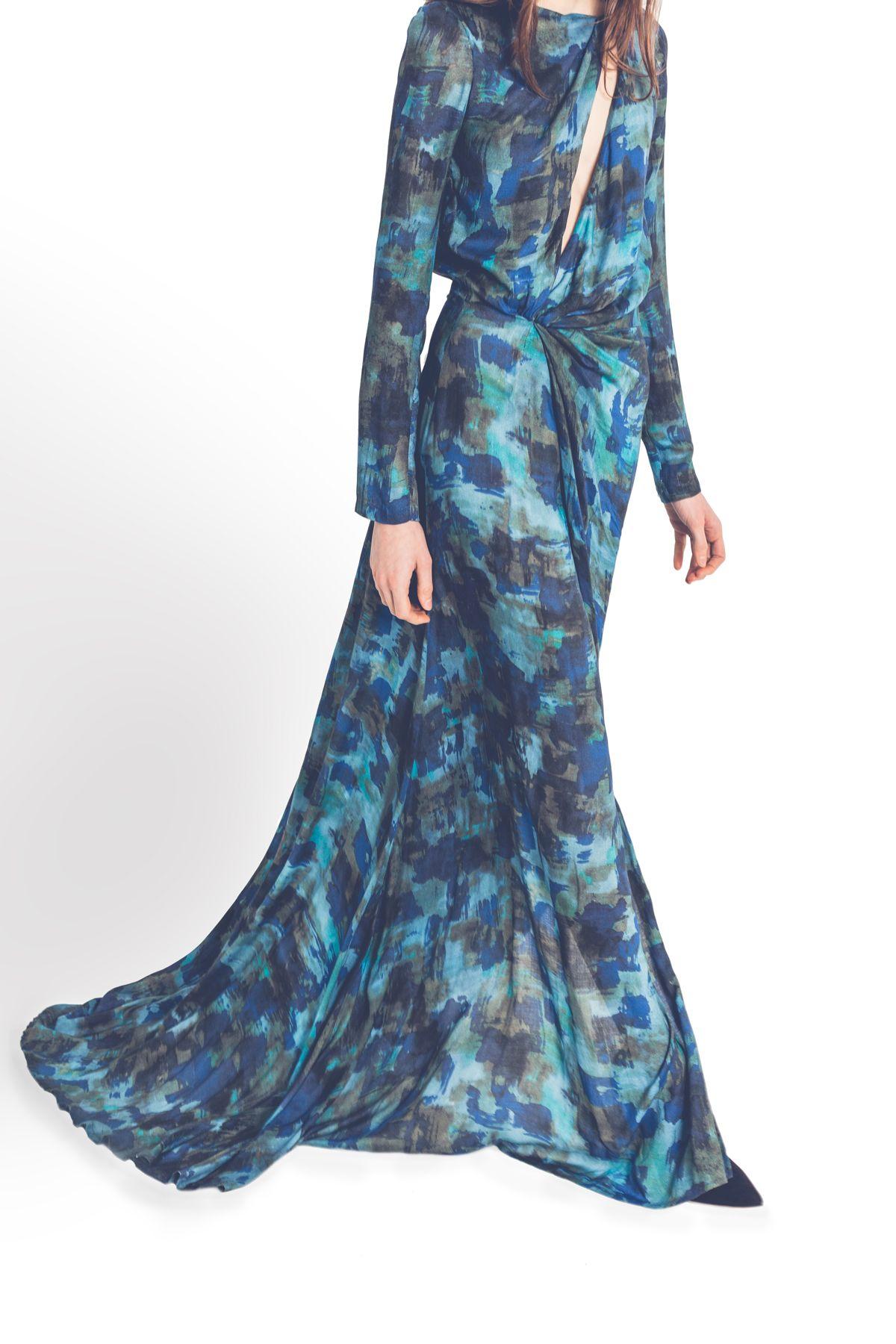 Vestido largo estampado | Ceremonial outfit | Pinterest | Vestidos ...