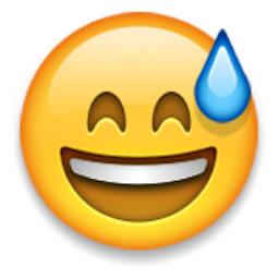 Smiling Face With Open Mouth And Cold Sweat Emoji U 1f605 U E415 U 31 Smiling Eyes Smile Face Eyes Emoji