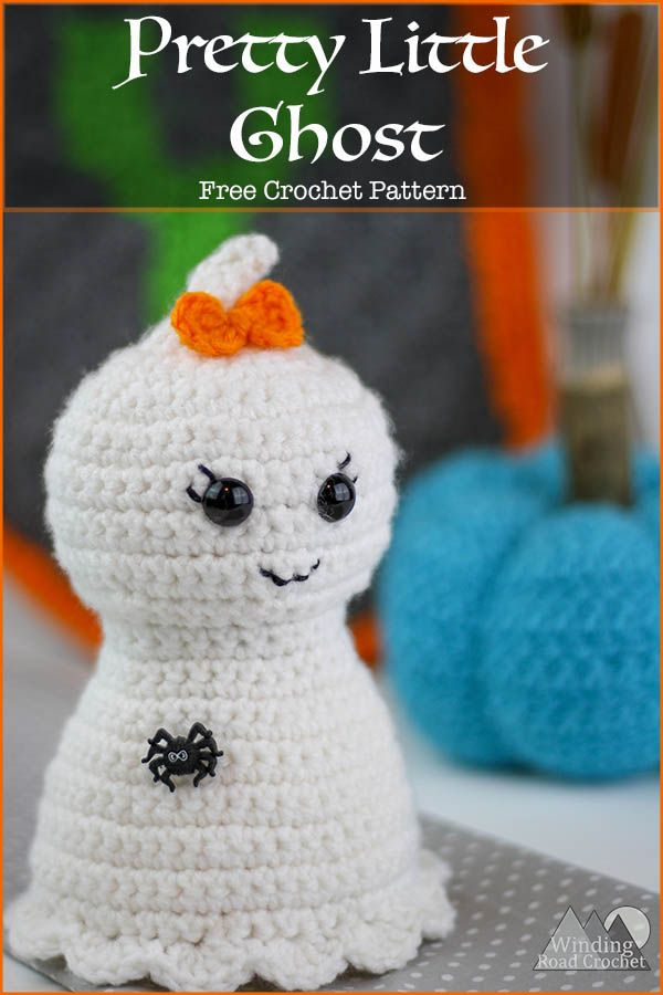 Pretty Little Ghost Free Crochet Pattern Halloween Pinterest
