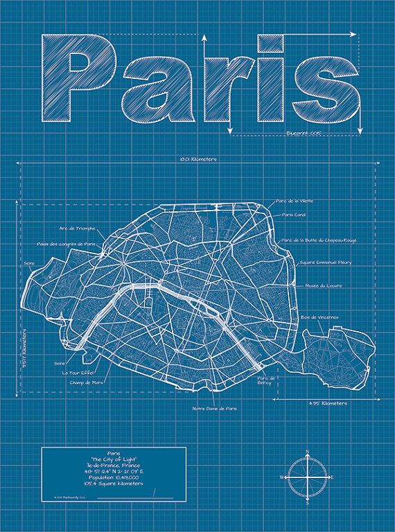 Paris artistic blueprint map by maphazardly on etsy 3000 bon paris artistic blueprint map by maphazardly on etsy 3000 malvernweather Image collections